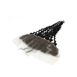 Wholesale Virgin hair  human hair extension water Wave Indian Hair 13*4  lace frontal