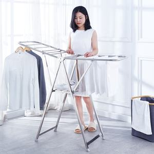 Stainless Steel Clothes Drying Racks Cloth Dryer Hanger Stand Folding Laundry Rack