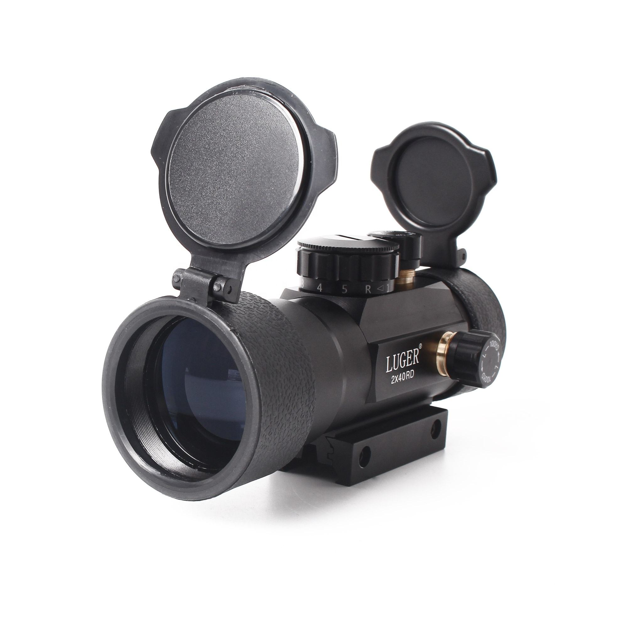 LUGER High Quality 2x40RD Red Green Dot Sight Hunting Scope Find Complete Details about Tactical Optics Riflescope