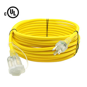 Custom Color/Length Available 25ft Retractable Laptop Power Electrical Cord 100m Extension Cable