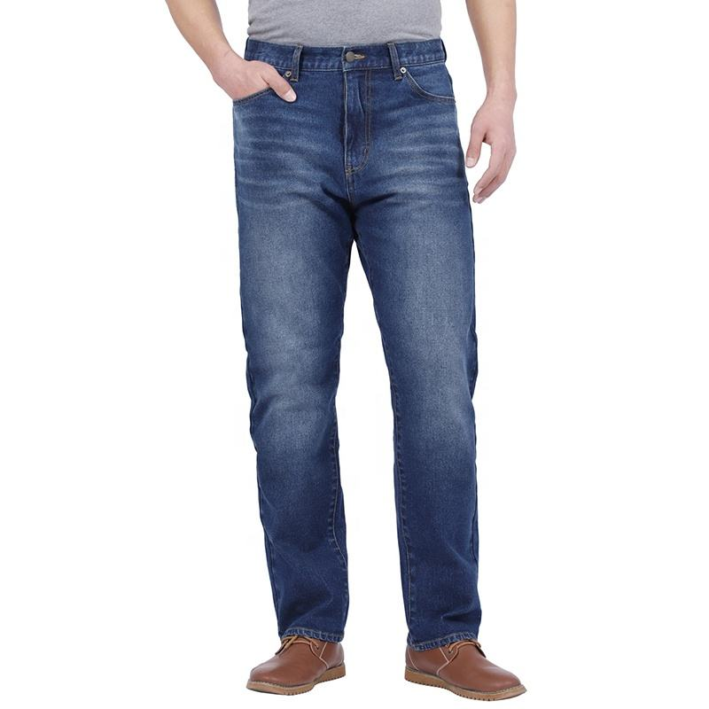 New Fashion Men's Regular Fit Jean Classic 5 Pocket Big and Tall Relaxed Fit Stretch Jeans