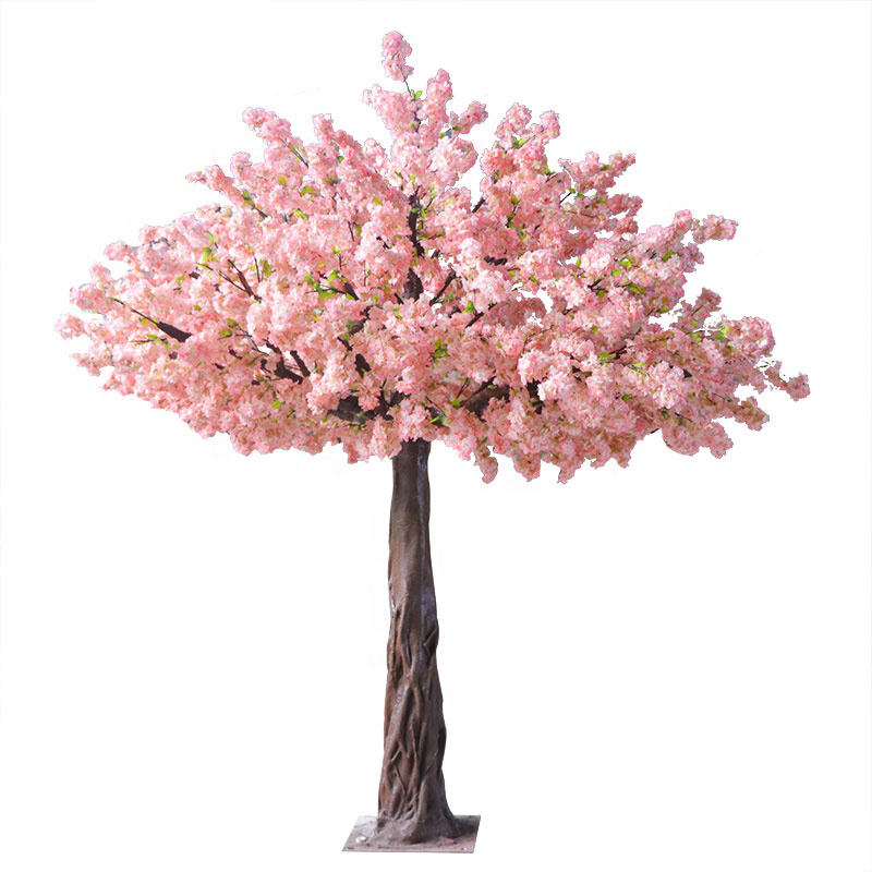 Árbol Artificial de flores de cerezo rosa, decoración de boda, cerezo artificial