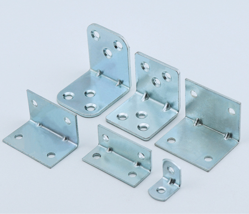 China OEM Factory Custom L Metal Corner Support Brackets 90 Degree Galvanize Wood/Sheet Joint Connectors Aluminum Angle Bracket