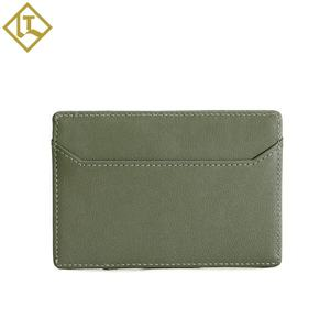 Hot selling smart wallet slim card holder mens genuine leather simple rfid credit card holder
