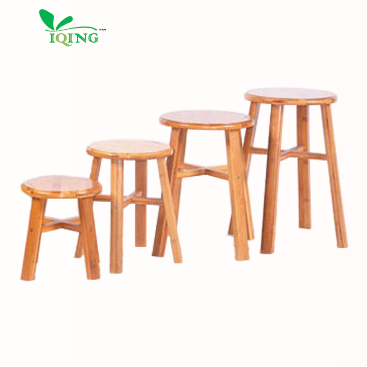 YQ-BRS21 Wholesale Vintage Small Wooden Mini Stool Display Stand Wooden Stools Round Bamboo Stool Chairs