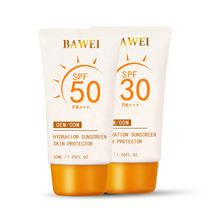 BAWEI SPF 50 Aloe Vera Organic Korea Suncream Whitening Vitamin C Sunblock Vegan Sunscreen for Sensitive Skin Outdoor