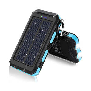 Waterproof Phone Charger Solar Power Bank 20000mah Powerbank Solar
