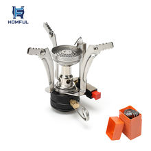 HOMFUL Outdoor Backpacker Cook Stove Camping Portable Gas Mini Stove with Adjustable Fire Design