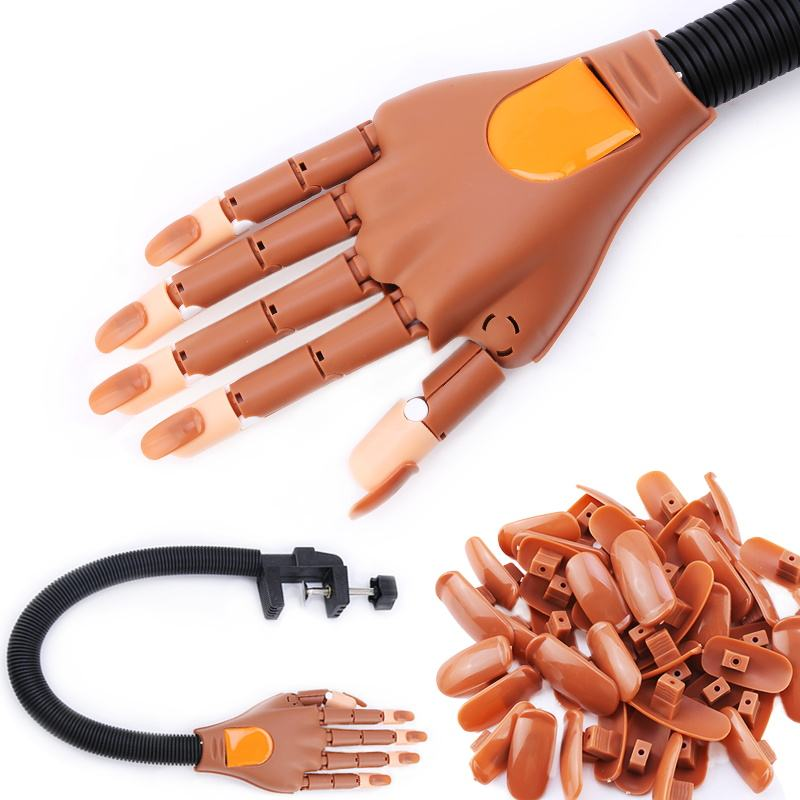 2021 New Arrivals Valse Flexibele Beweegbare Nail Training Siliconen Praktijk Fake Hand Voor <span class=keywords><strong>Acryl</strong></span> Nagels Uk