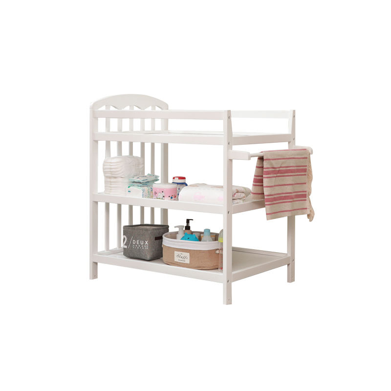 Solid Wood Kid Folding Multi-Function Nappy Changing Diaper Table