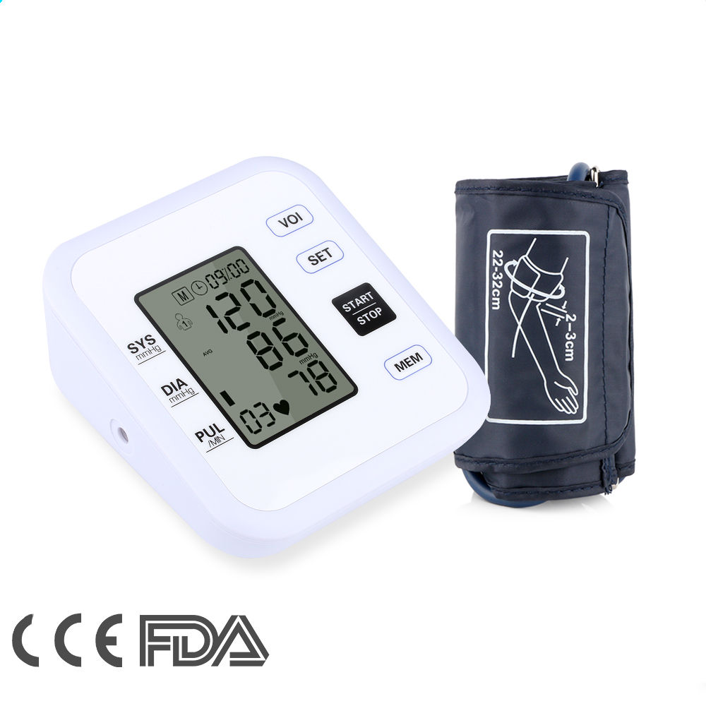 High quality Health Care Heart Beat Rate Pulse Meter Tonometer Sphygmomanometers pulsometer Arm Blood Pressure Monitor