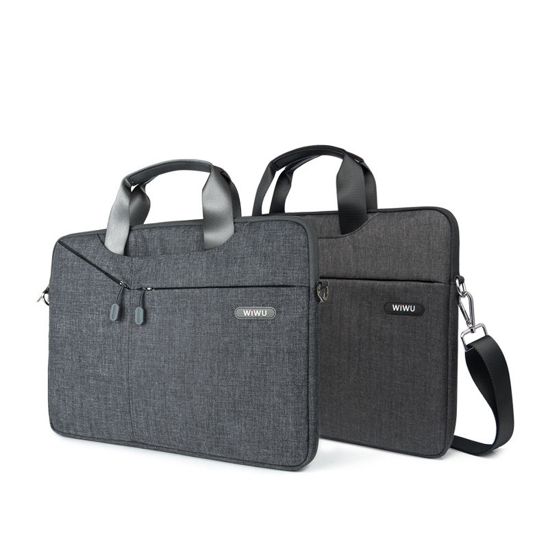 Wiwu Top selling Gent business handbag laptop messenger bag with hidden handle and shoulder strap for 13.3-15.4 inch laptop