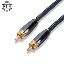 Professional aluminum shell 24k gold plated RCA Banana plug Audio HIFI speaker cable