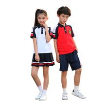Summer School Sports Uniform Unisex Polo Shirt Sets for Kindergarten and Primary School Boys and Girls