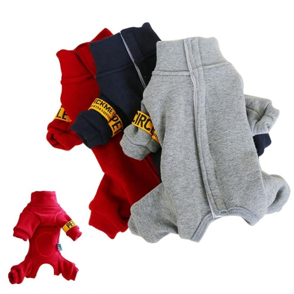 Comfort Soft Male Female Fully Covered Belly Pet jumpsuit Teddy Poodle Small Dog clothes