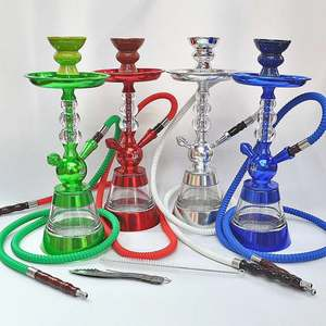 factory customized design Russian stainless steel alpha carbon fiber hookah with cleaning machine