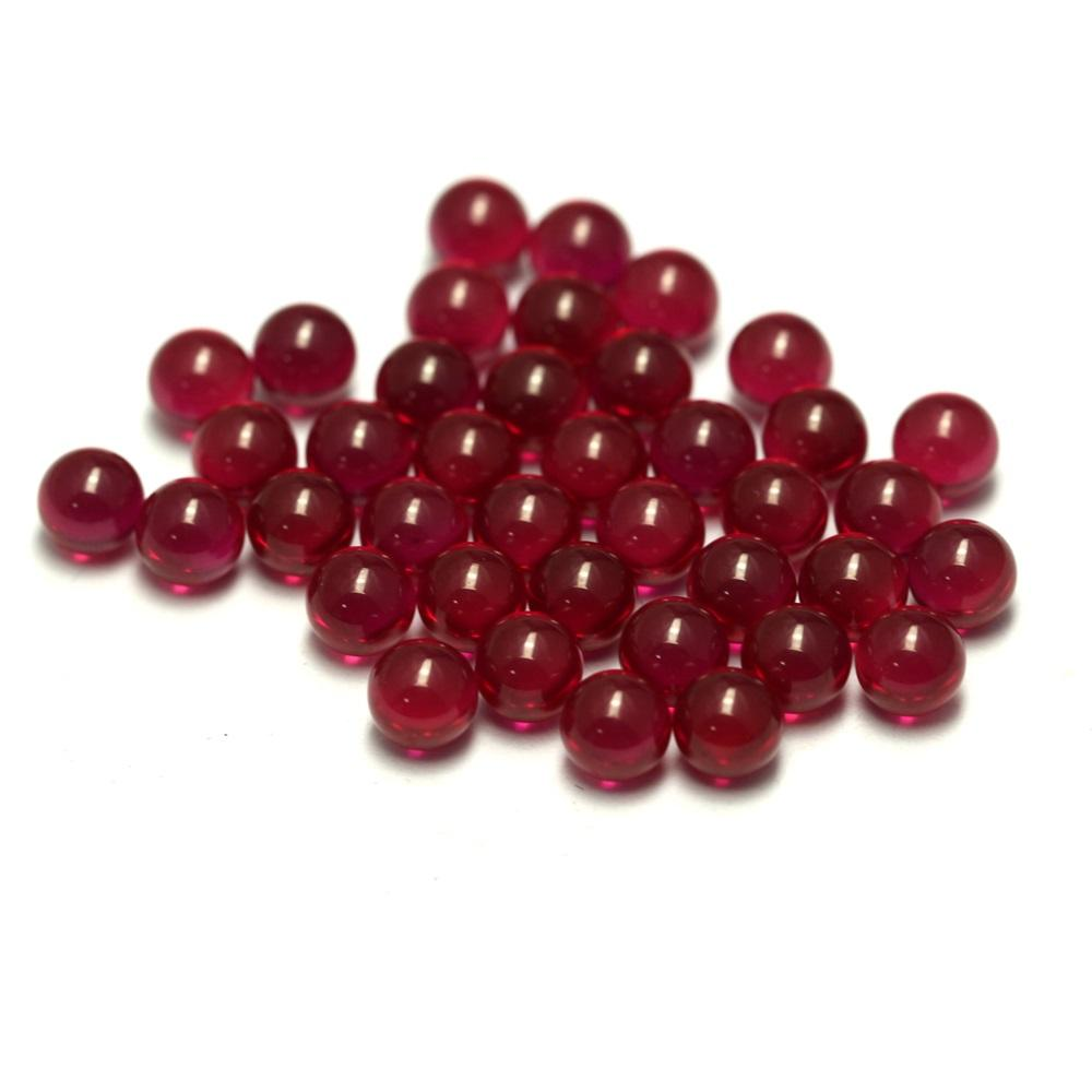 100 pcs/bag vapor pearl 2.5mm 3mm 4mm 6mm synthetic ruby sphere ball