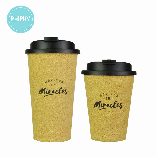 PHIPHY mug set with laser pattern -- Believe In Miracle / 1 PP lid 1 PP cup cork Surface