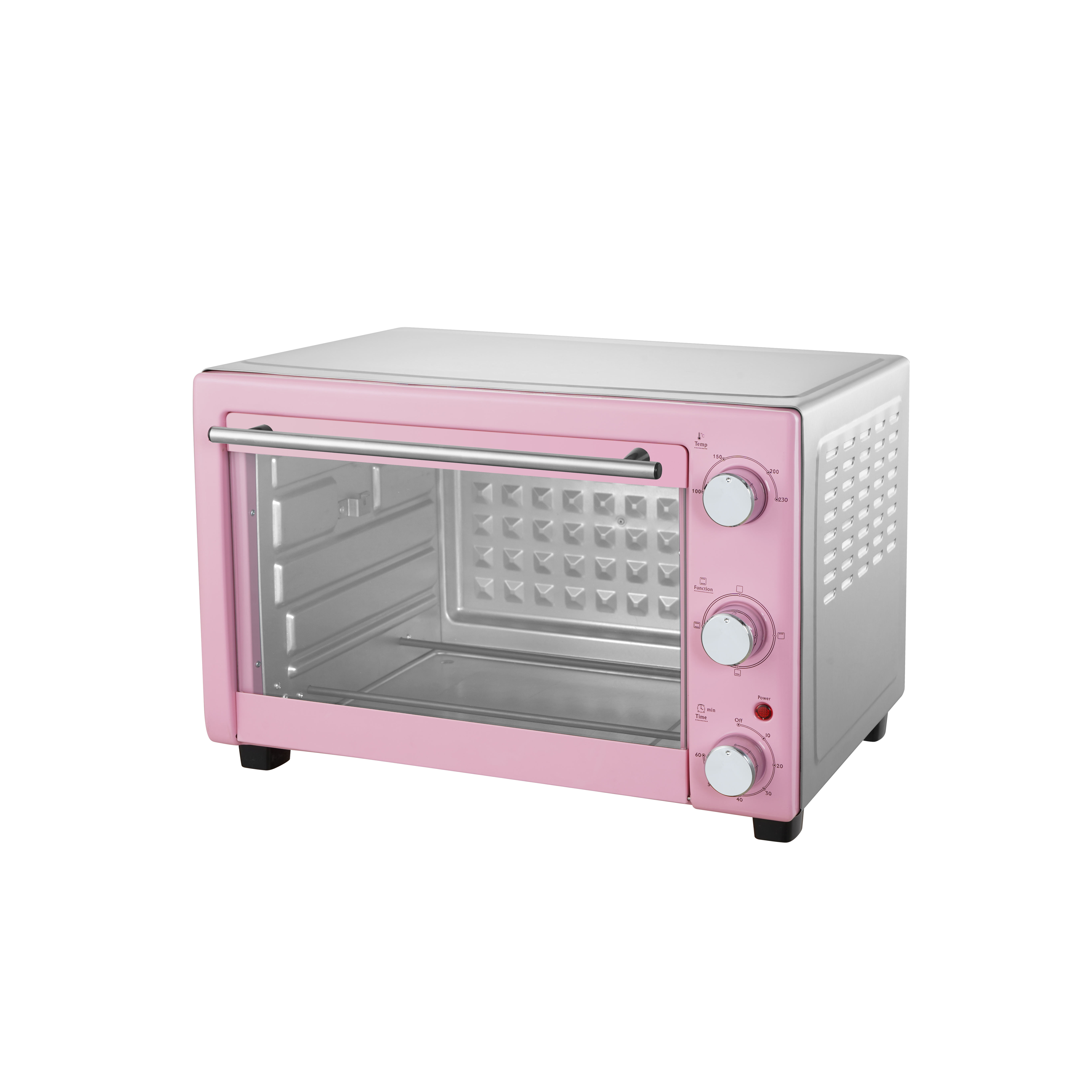 Pink color home use cooking oven electric bread oven with rotisserie hot wind 30liters