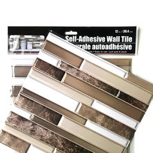 GF High Quality Removable Home Decor Self Adhesive PVC Kitchen Bathroom Tile 3D Decoration Wall Stickers