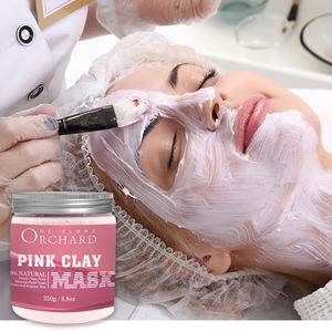 All Natural Exfoliating Pink Clay Pore Refining Clay Facial Mask, Bentonite Natural Facial Clay Mask