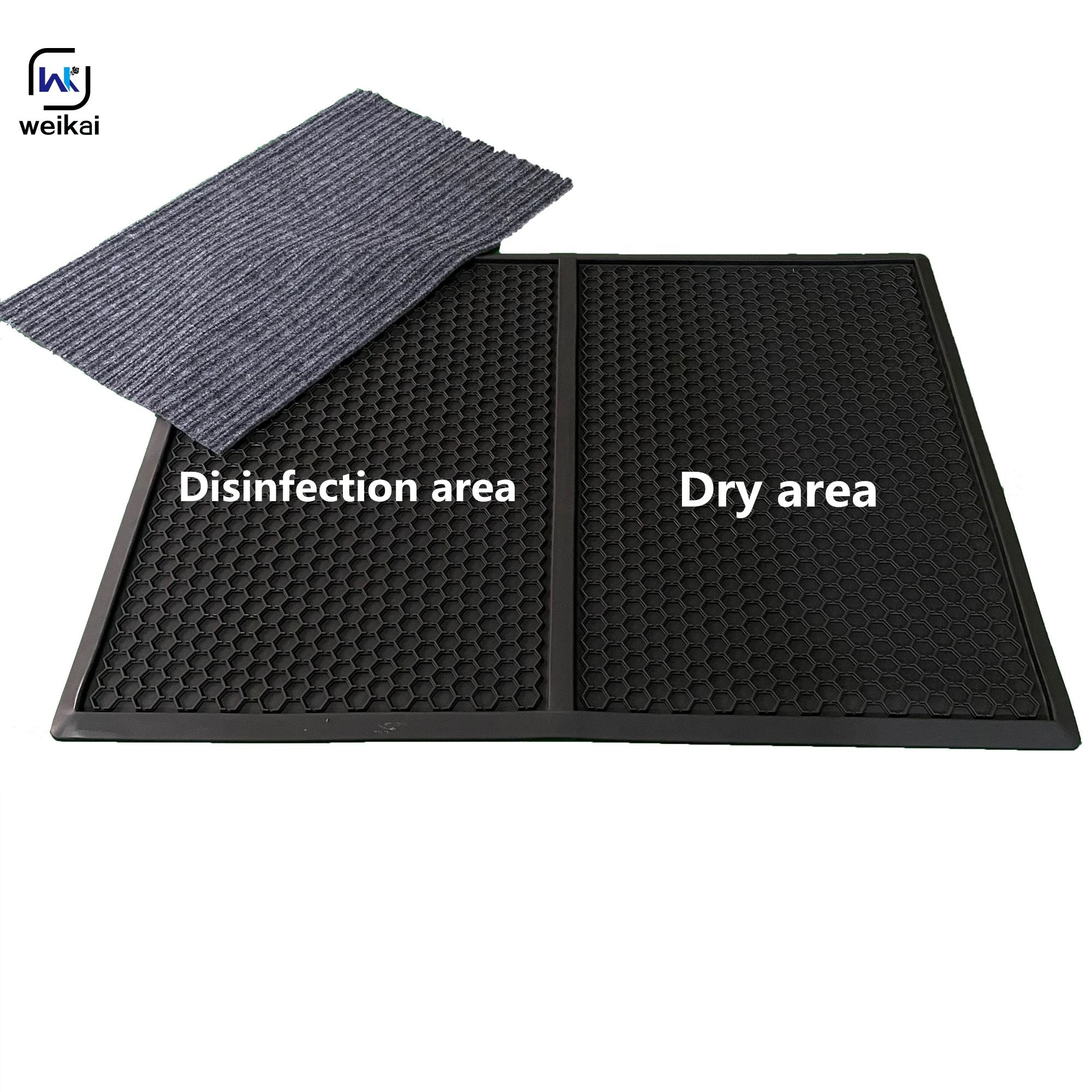 Customized Disinfection floor mat sanitizing foot shoe mat rubber disinfecting doormat