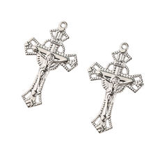 Fashion High Quality Stainless Steel Silver Prayer Cross  Plated Religious Jesus Cross Divine Pendant