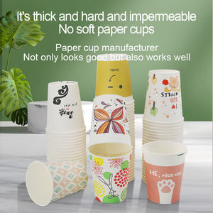 China manufacturer disposable Biodegradable Custom hot pla coffee 8oz paper cups with logo