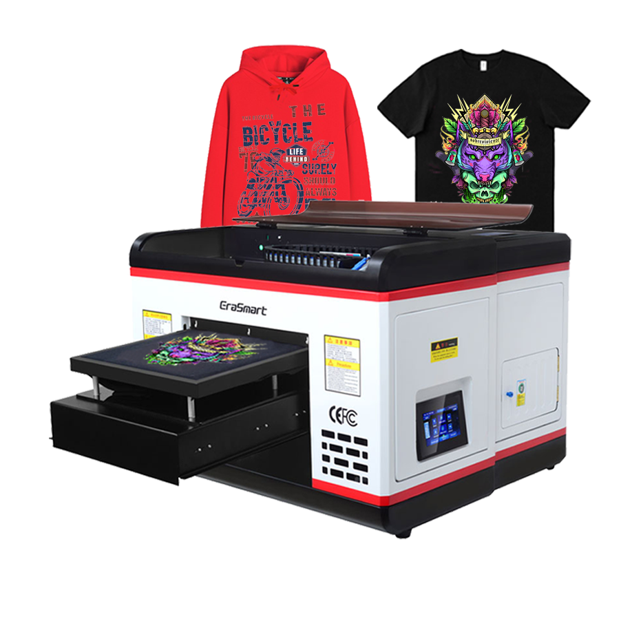 A3 Size Desktop Flatbed Diy Cotton Fabric Textile Tshirt Shirt Direct Automatic Digital T-Shirt Printing Machine Dtg Printer