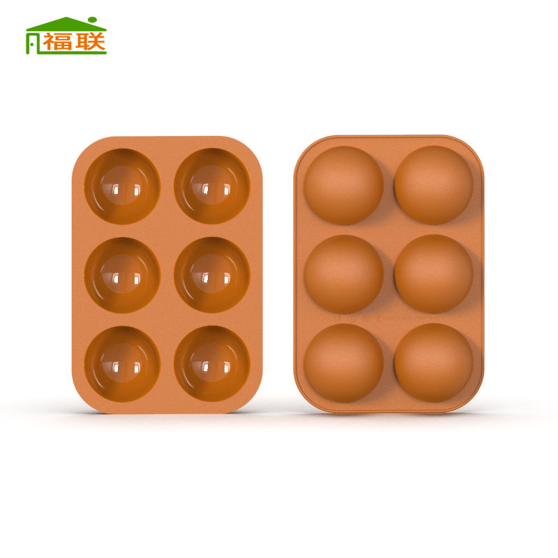 Custom Cheap Non stick 3 pack 2 sets 6 cavity Semi Sphere Silicone Mold For Making Hot Chocolate bombs Cake Jelly Dome Mousse