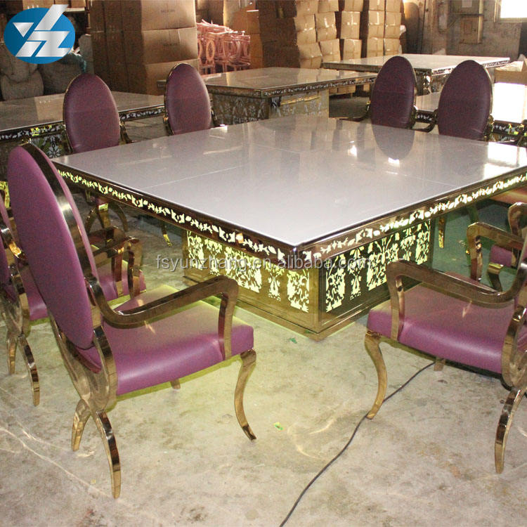 Event Furniture MDF Top Rose Gold Table For Sale