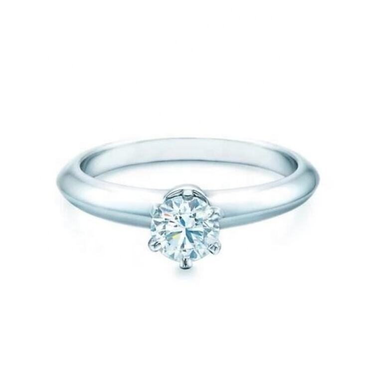 2020 new design lab grown HPHT diamond 0.5 carat solitaire jewellery 6 prong engagement ring 18k gold jewelry