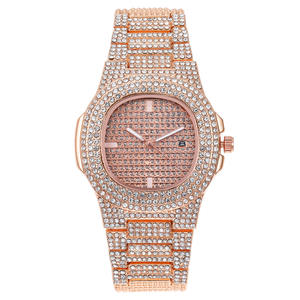 2020 Mens Watches Top Brand Luxury Iced Out Gold Diamond Watch Square Quartz Wrist watch