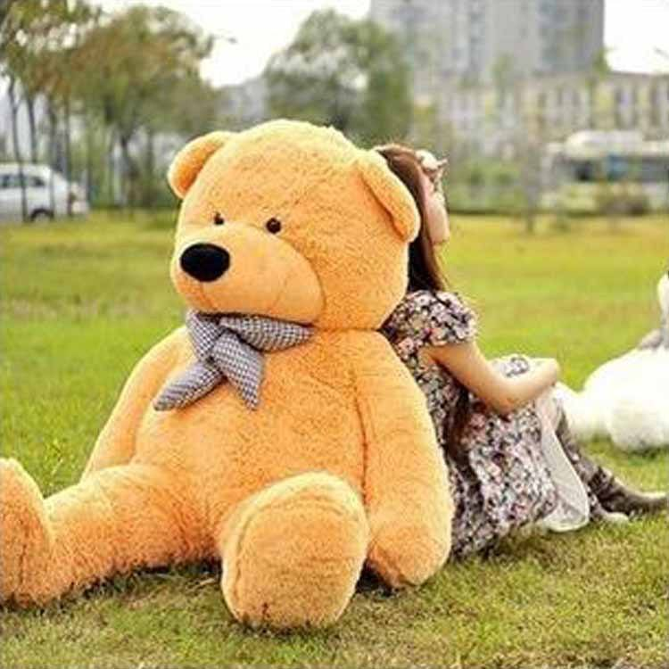 Amazon Hot Granddaughter's Gift Plush Giant Teddy Bear 200cm 6feet Big Size Large Teddy Bear