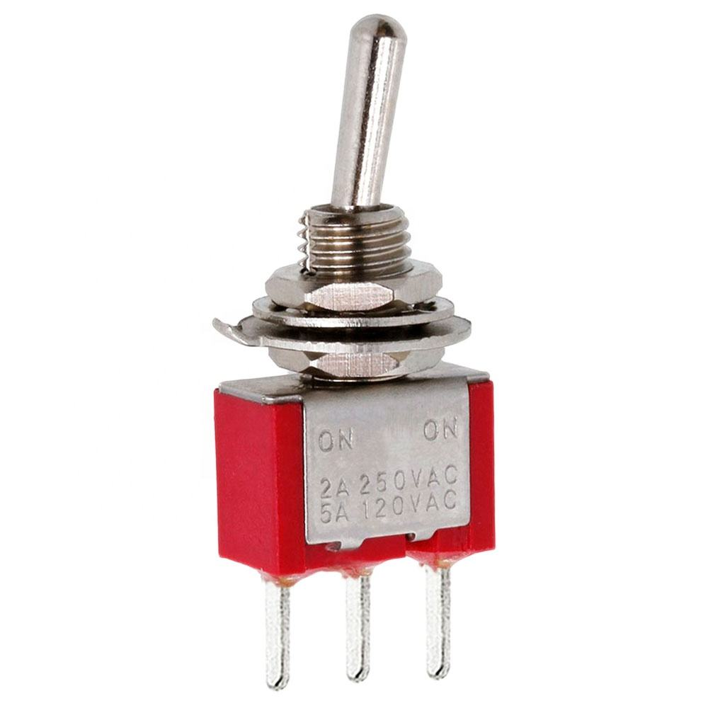 20pcs MINI Red Toggle Switch DPDT ON-ON Guitar Amp PCB Mounting 6pin