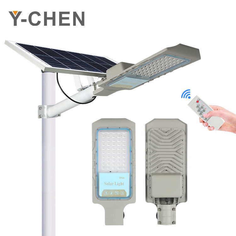 Modern Security Control Road Waterproof Outdoor Aluminum Street 30w 50w 100w 150w Solar Led Outdoor Light