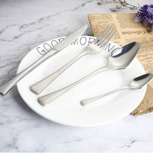 Luxury heavy cutlery 18/10 stainless steel reusable flatware set for restaurant dinner