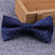 Soft feeling perfect funny mini glow double sided self tie bow tie