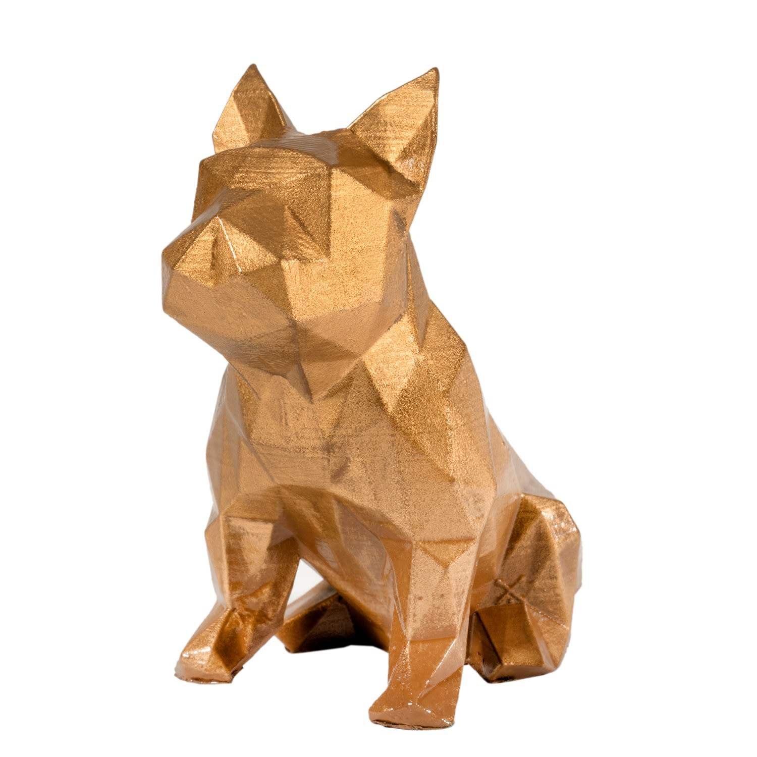 Geometric Dog Statue French Bulldog Sculpture