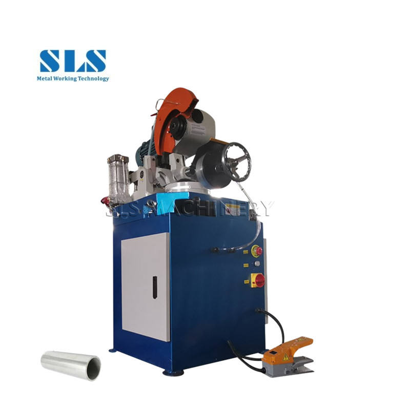 Pneumatic Type Metal Circle Tube Cutter Tools Circular Cold Saw Pipe Cutting Machine Loaded with 315mm HSS Saw Blades