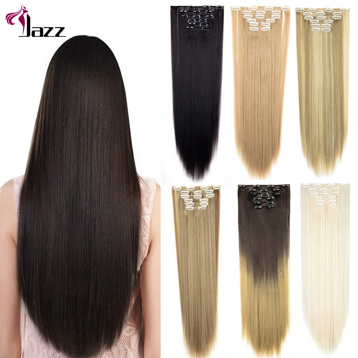 cuticle aligned straight indian remy human hair clip in extensions, different length custom clip in remy hair weave