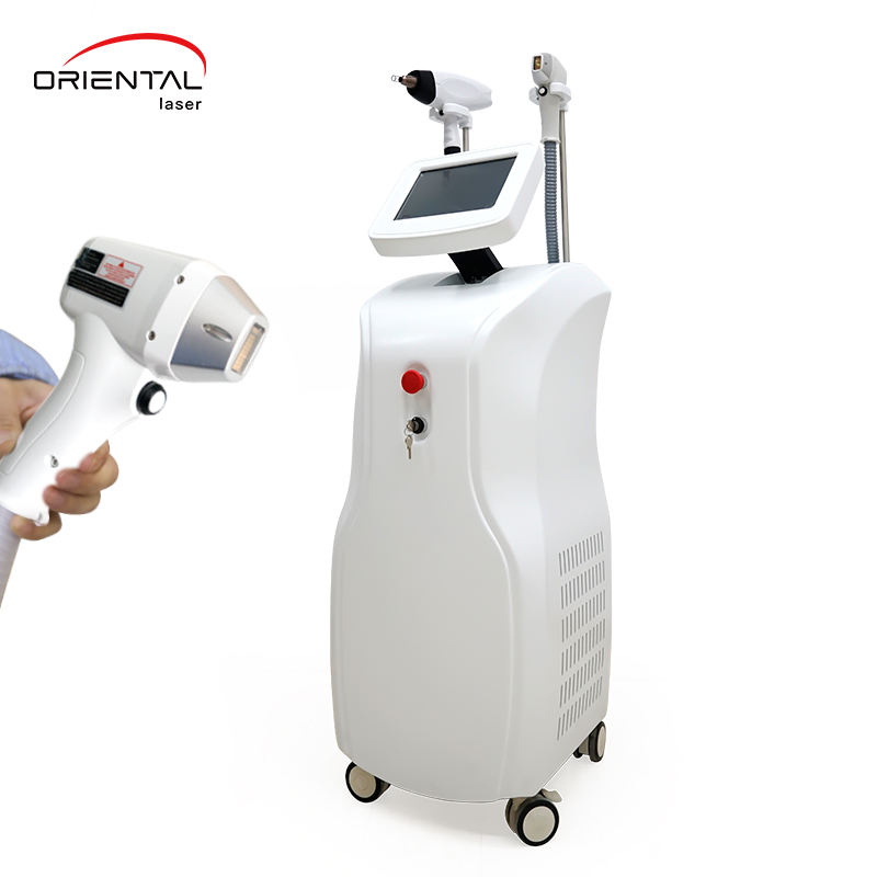 two handle laser SHR Fast Laser Hair removal and Tattoo Removal laser Machine IPL