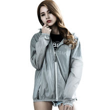 Fashion Hooded Jacket Unisex Waterproof Outdoor Sports  Reflective Jacket for Night Safety