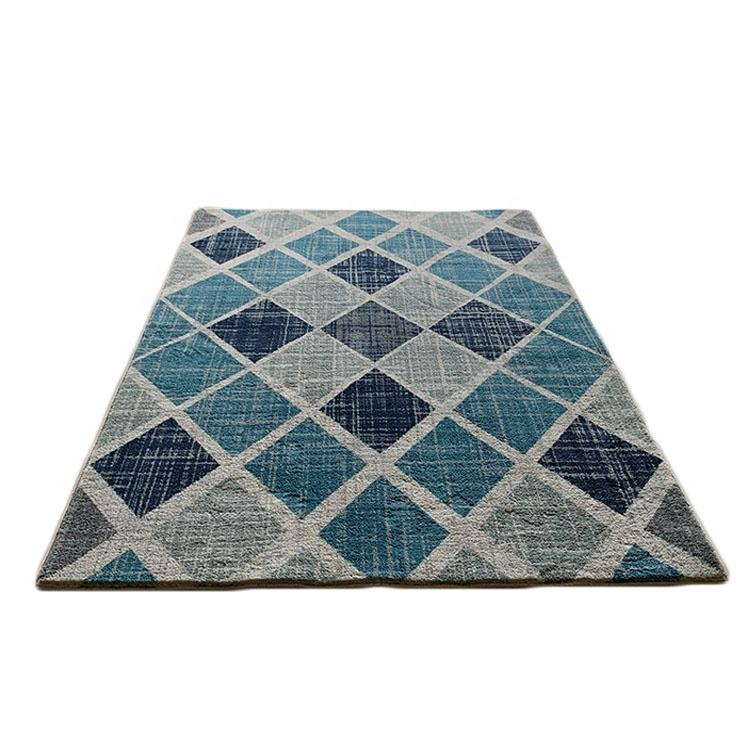 Geometric design 100% polyester 3d shaggy floor hotel room modern carpets rugs