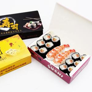 Disposable Takeout paper Packaging box Custom logo Bento Food Takeaway Sushi Box