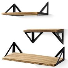 2020 Floating Shelves Wall Mounted Set of 3, Rustic Wood Wall Storage Shelves for Bedroom