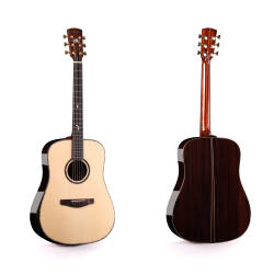 High Quality 41 inch all solid acoustic guitar solid Spruce top Solid Rosewood side and back  with bag
