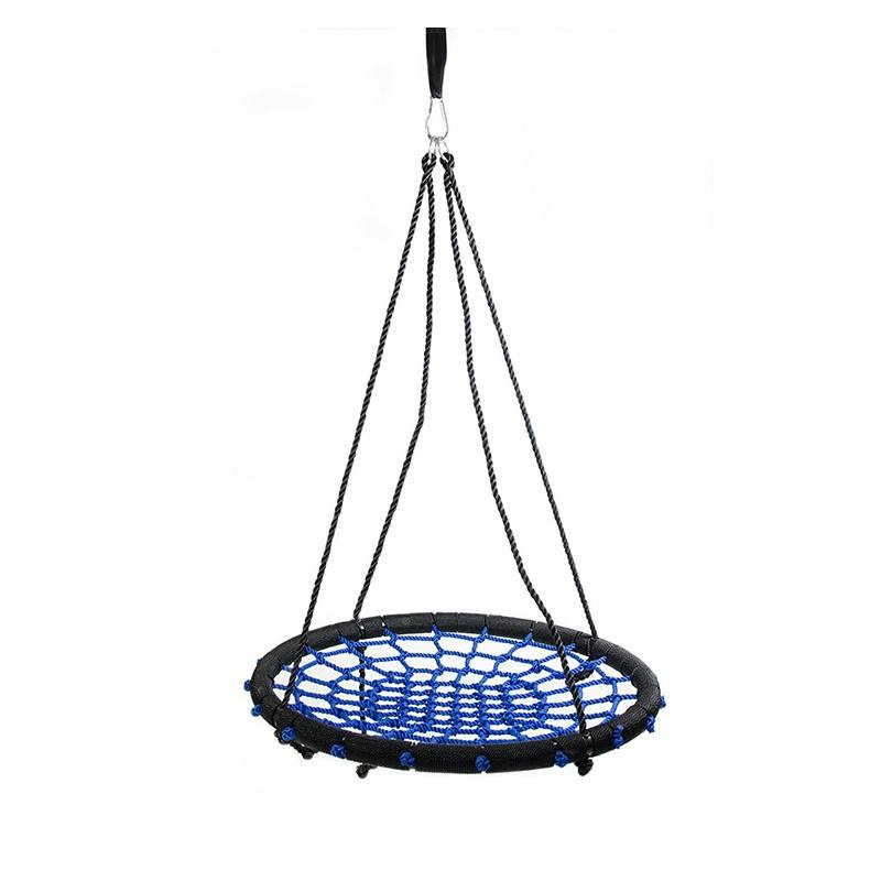 Amazon Hot selling Garden Spider Easy to Install Nest Swing Set Nylon Rope Round Outdoor Web Net Swing