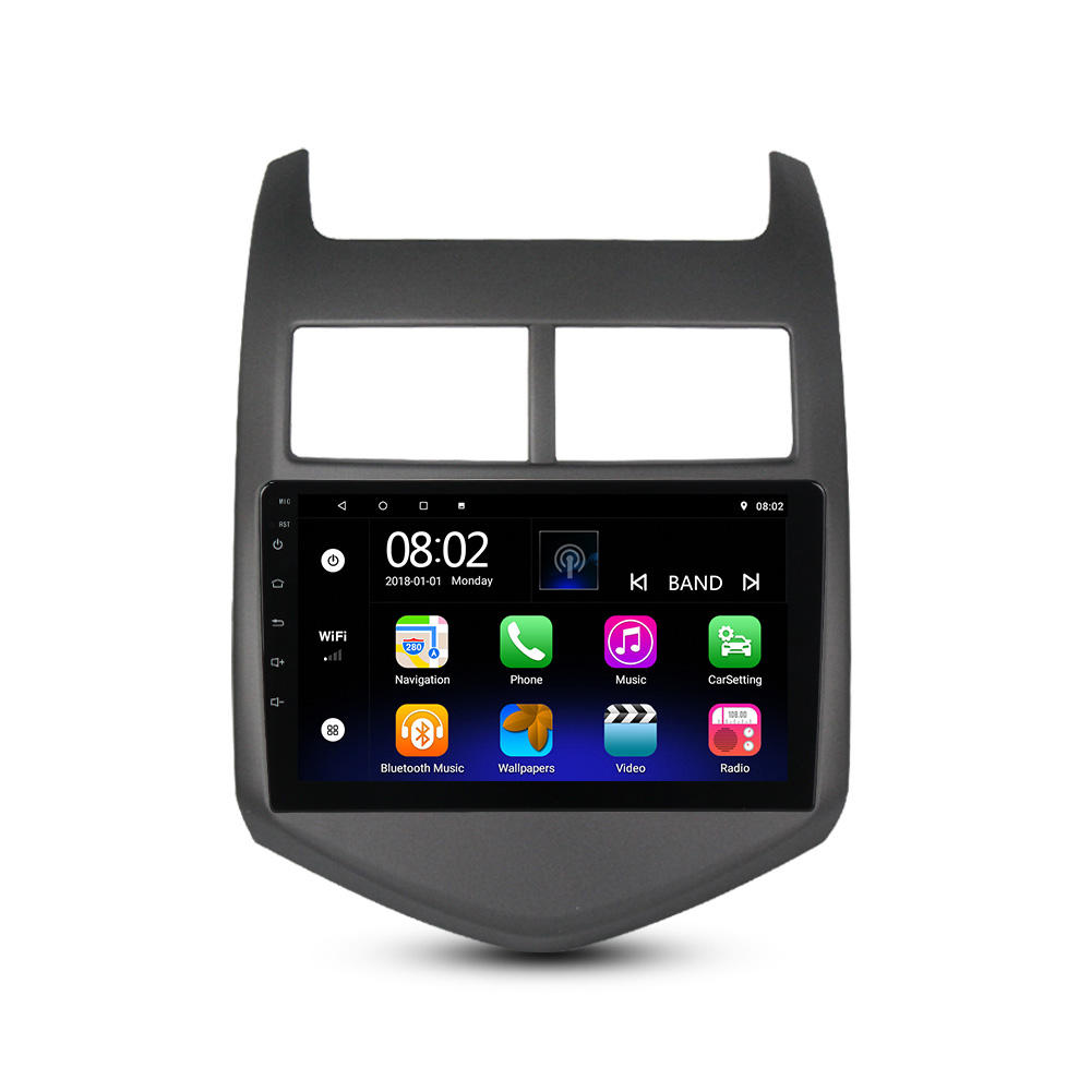 Android 10.0 4Core Auto Radio Speler Voor Chevrolet Aveo/Sonic 2011 <span class=keywords><strong>2012</strong></span> 2013 2 + 32Gb Multimedia video Navigatie Gps 2din