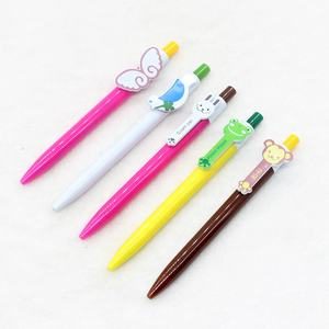 supports custom wholesale cartoon cute exclusive patterns pvc plastic ballpoint pen